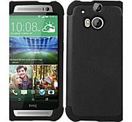 2-in-1 Design Hexagon Pattern Hard Case with Silicone Inside Cover  for  HTC M8 (Assorted Colors)