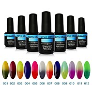 1Pcs MINGSHAN 15ml Chameleon Color Changing UV Gel Polish Assorted Colors No.1-12