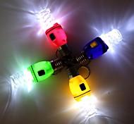 Spiral Bulb Style LED White Flashlight Keychain - 1Pcs(3 x AG3)