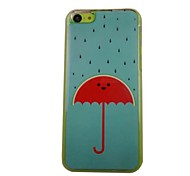 The Beautiful Umbrella Pattern PC Back Case for iPhone 5C
