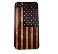 Retro USA Flag Pattern PC Back Case for iPhone 4/4S