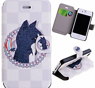 Special Grains Cute Cat Pattern PU Full Body Case with Card Slot for iPhone 4/4S