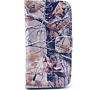 Grey Camo Pattern PU Leather Case with Card Slot and Stand for Samsung Galaxy S4 mini I9190