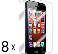 [8-Pack] Front and Back Retina Screen Protector for iPhone 5/5S