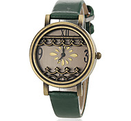 Women's Vintage Dial PU Band Quartz Wrist Watch (Assorted Colors)