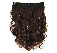 High Temperature Resistance 15 Inch Long Wavy 5 Clip Hairpiece Extension M2/30