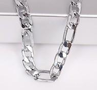 eruner®unisex plata de 6 mm collar de cadena No.115