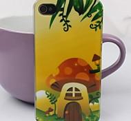 Case Retour PC beau modèle Mushroom House pour iPhone 4/4S