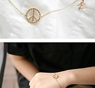 Miss ROSE®Fashion Zircon Peace Symbol Bracelet \ \