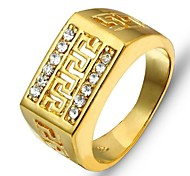 2015 Fashion Vintage Real Gold Looking Ring 28K Gold Plated Rings Good Quality Gold Men Ring Jewelry