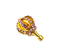 Alloy Diamond-Studded Crown Anti-Dust Earphone Jack (Ramdon Color)