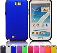 Para Samsung Galaxy Note Antigolpes / Congelada Funda Cubierta Trasera Funda Un Color Policarbonato Samsung Note 2