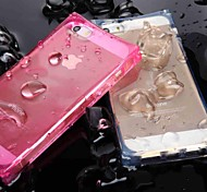 Unique Crystal Clear Ice Cube with LED Flashing Designed TPU Case for iPhone 5/5s(Assorted Colors)