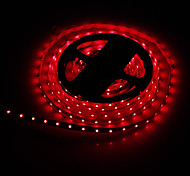 5M 24W 300x3528SMD Red Light LED Strip Lamp (DC 12V)