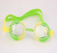 Children Swimming Mirror Can Be Adjusted Anti-fog Waterproof Attached to The Ear Green and Yellow