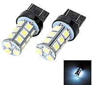Marsing T20 5W 400lm 18 x SMD 5050 LED 7000K White Light Car Steering Reverse-Bremsleuchte (12V 2 Stück)
