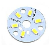 MaiTech 32mm 3W 305lm 6-SMD 5730 LED de luz blanca de aluminio del bulbo Plate - amarillo + blanco
