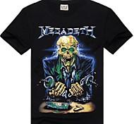 ROCKSIR®Men's Round Collar Thrash Metal Megadeth Print 3D T-shirt