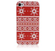 Snowflake Pattern Hard Back Case for iPhone4/4S