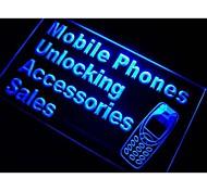 cellulare accessori di vendita luce al neon segno