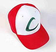 Hat/Cap Inspired by Pocket Monster Ash Ketchum Anime Cosplay Accessories Cap / Hat Red Male / Female