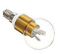 3W E14 Bombillas LED de Globo 6 SMD 5730 300 lm Blanco Cálido AC 100-240 V
