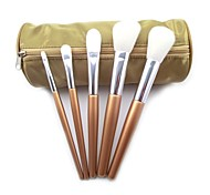 5Pcs Travel Cosmetic Brush Set with Pouch