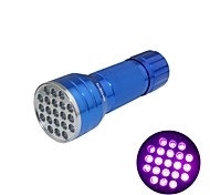 Huntereyes ™ 395-400NM 21-LED UV Flashlight Blue   (3xAAA)