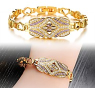 Fashion Beautiful 3A Zircon Super Flash Rome Only Beautiful Lady Gold Diamond Bracelet with 18 K Gold Plated Layer