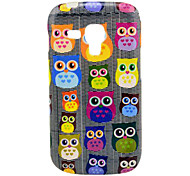 Grey Backgroud Colorful Owls Cartoon Pattern TPU Soft Case for Samsung Galaxy Trend Duos S7562/S7560