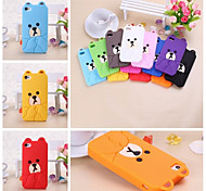 Cute Bear Pattern Silicone Soft Case for iPhone 4/4S(Assorted Colors)