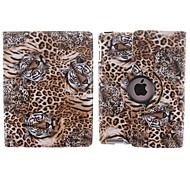 The Tiger and Leopard Grain Design 360 Degree Rotating PU Leather Case with Stand for iPad 2/3/4