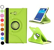 360 Rotating Elastic Belt Stand Auto Sleep/Wake Leather Case for Samsung Galaxy Tab 3 Lite T110(Assorted Colors)