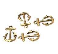 terceiro estilo do vintage pequeno barco âncora liga de bronze accessoris (10pcs)