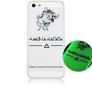 Para Funda iPhone 5 Fosforescente / Diseños Funda Cubierta Trasera Funda Animal Dura Policarbonato iPhone SE/5s/5