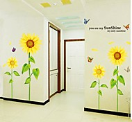 Romantic Sunflower Design Paper With Plastic Stickers & Tapes(Multicolor Color x1pcs)