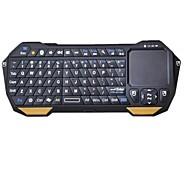 V3.0 Keyboard 77-key BT05 Mini Bluetooth com touchpad integrado para celulares e tablets