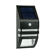 Acero inoxidable 2-LED Solar Light Pared Con sensor de movimiento PIR