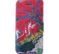 Eiffel Tower Pattern PU Full Body Case with Card Slot for iPhone 5/5S