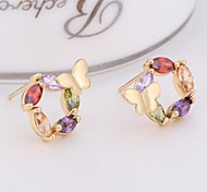 New Fashion 18K Gold Plated Accessories Butterfly Stud Earring ERZ0263