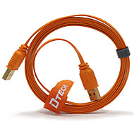 1M 3.2FT Orange USB2.0 Male to USB2.0 Male Cable Free Shipping
