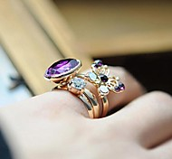 Z&X®  Restoring Ancient Ways Purple Butterfly Three Piece Ring