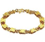 Ms Butterfly Type Copper Plating 18 K Gold Bracelet