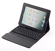 Wireless Bluetooth Keyboard with Protective PU Leather Case Holder for iPad 2/3/4 (Black)