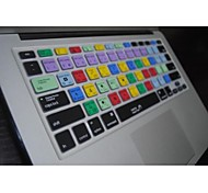 "Coosbo® PS Shortcut keys Silicone Keyboard Cover Skin for 13.3"",15.4"",17"" Macbook Air Pro/Retina"