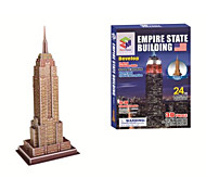 Educational Toys Magic Puzzle Empire State Building 3D Puzzle for Children and Adult Jigsaw Puzzle(24PCS, B668-3)