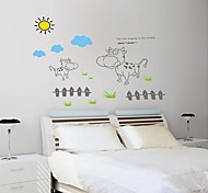 Doudouwo®  Animals Dairy Cow on The Ranch Wall Stickers