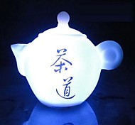 Coway The Teapot of Seven Color LED Nightlight Chinese Tea Art