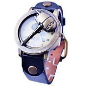 Men`s Retro Flip Type Bronze Hammer Dial Black PU Quartz Vintage Wristwatch Cool Watch Unique Watch