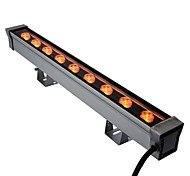 9pcs LED de alta potencia LED al aire libre 9W amarillo arandela de la pared la luz AC85-265V
